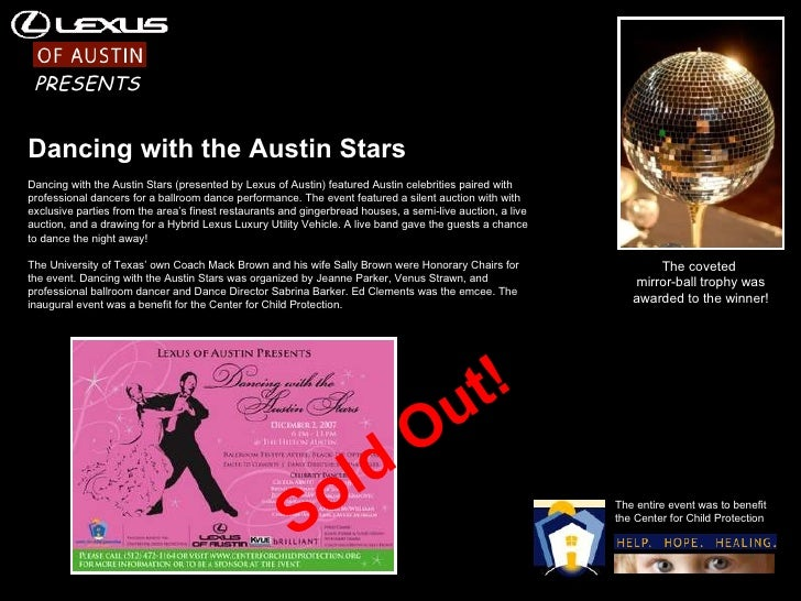 The coveted  mirror-ball trophy was awarded to the winner! Dancing with the Austin Stars Dancing with the Austin Stars (pr...