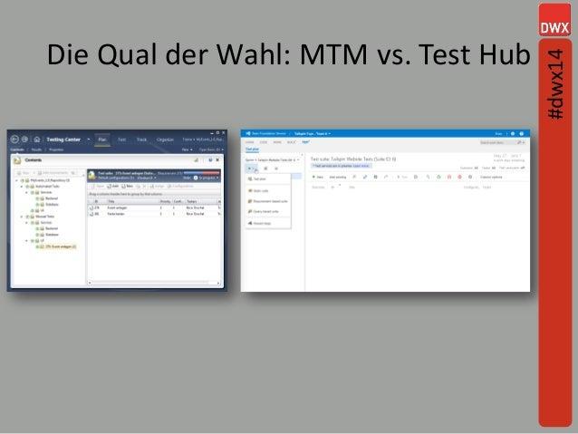 Die Qual der Wahl: MTM vs. Test Hub #dwx14