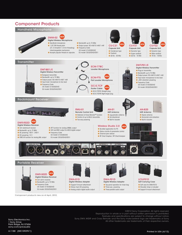 DWX Series Digital Wireless Microphone System