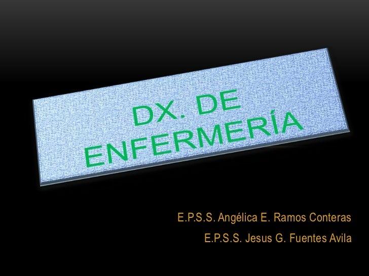 E.P.S.S. Angélica E. Ramos Conteras     E.P.S.S. Jesus G. Fuentes Avila