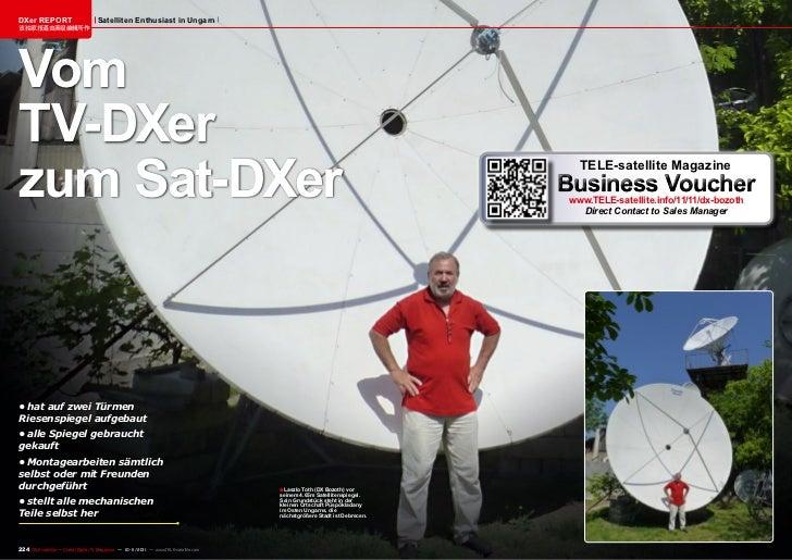 DXer REPORT                         Satelliten Enthusiast in Ungarn该独家报道由高级编辑所作VomTV-DXerzum Sat-DXer                     ...