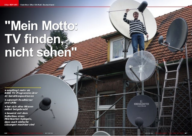 """DXer REPORT                    Satelliten DXer DX-Ralf, Deutschland""""Mein Motto:TV finden,nicht sehen""""•empfängt mehr als80..."""
