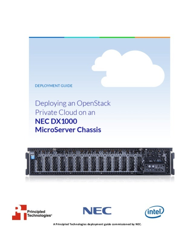 Deploying OpenStack Private Cloud on NEC DX1000 MicroServer