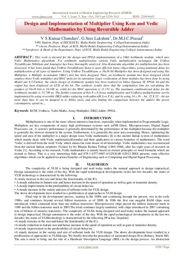 www.ijmer.com  International Journal of Modern Engineering Research (IJMER) Vol. 3, Issue. 5, Sep - Oct. 2013 pp-3230-3141...