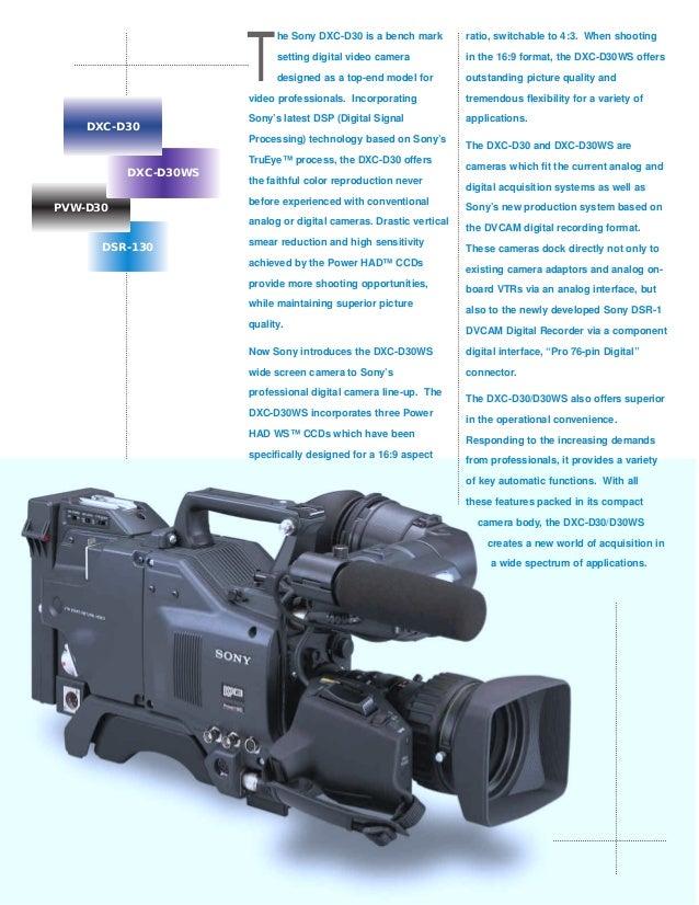 dxc d30 rh slideshare net Sony User Manuals Sony User Manuals