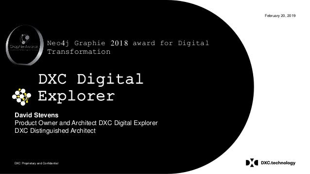 DXC Proprietary and Confidential February 20, 2019 DXC Digital Explorer David Stevens Product Owner and Architect DXC Digi...