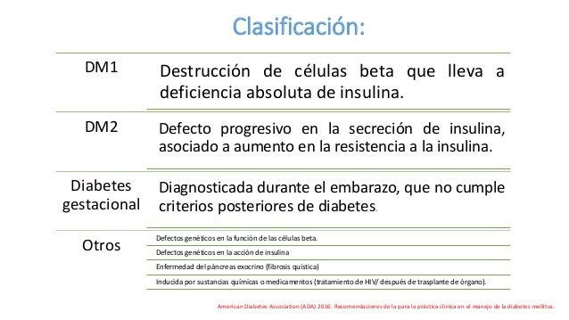 Dx de diabetes.Guías 2016.