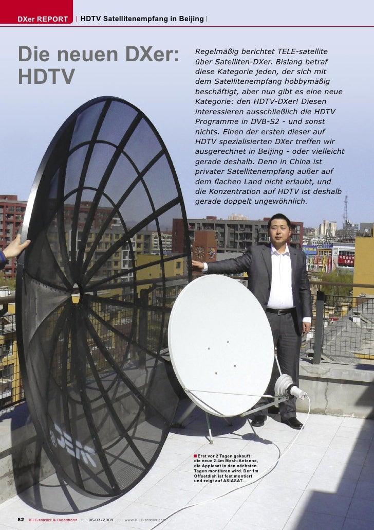 DXer REPORT                 HDTV Satellitenempfang in Beijing     Die neuen DXer:                                         ...