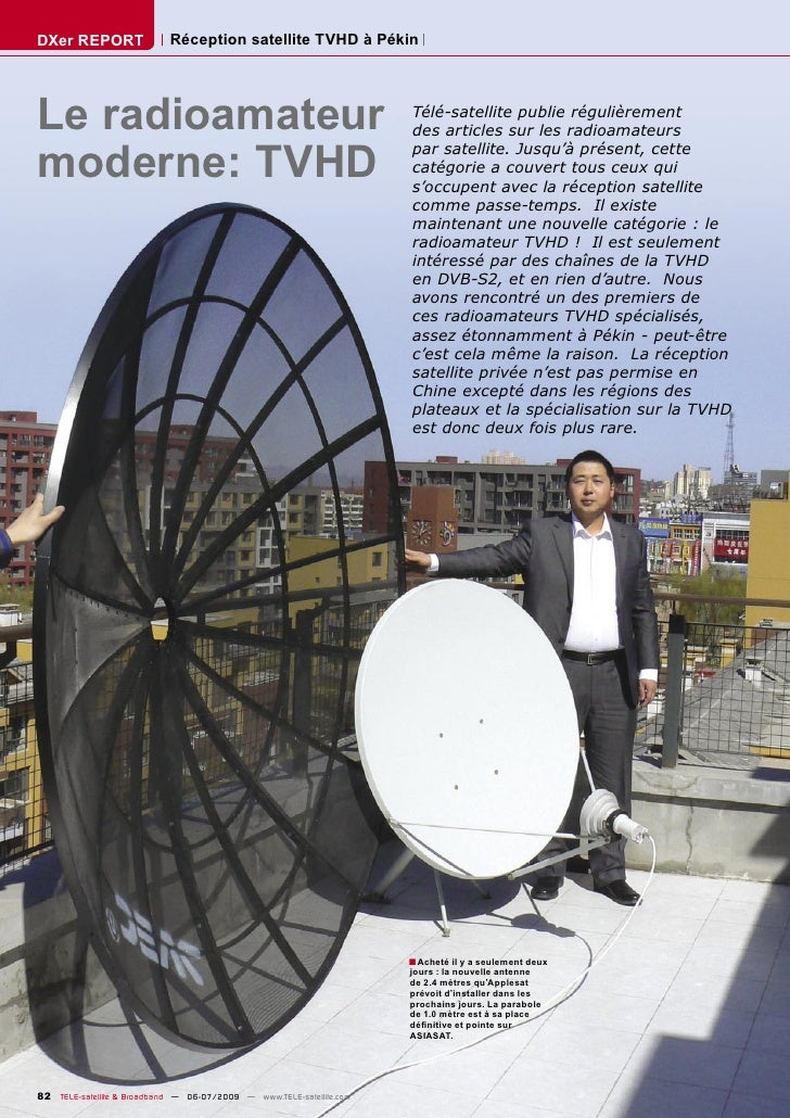 DXer REPORT                 Réception satellite TVHD à Pékin     Le radioamateur                                          ...