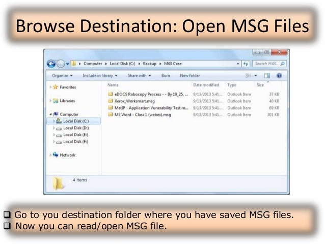 how to open an msg file for free
