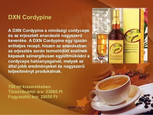 DXN Cordypine A DXN Cordypine a minőségi cordyceps és az erjesztett ananászlé nagyszerű keveréke. A DXN Cordypine egy igaz...