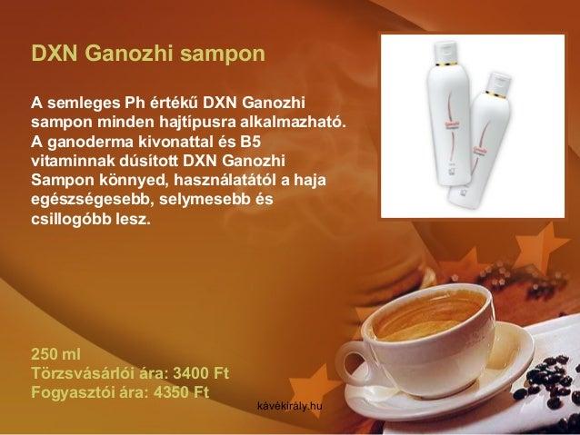 DXN Ganozhi sampon A semleges Ph értékű DXN Ganozhi sampon minden hajtípusra alkalmazható. A ganoderma kivonattal és B5 vi...