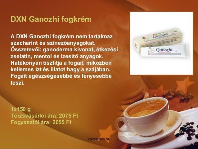 DXN Ganozhi fogkrém A DXN Ganozhi fogkrém nem tartalmaz szacharint és színezőanyagokat. Összetevői: ganoderma kivonat, étk...