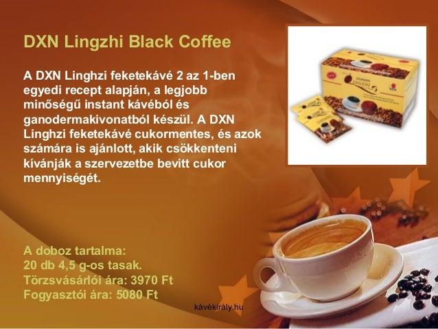 DXN Lingzhi Black Coffee A DXN Linghzi feketekávé 2 az 1-ben egyedi recept alapján, a legjobb minőségű instant kávéból és ...