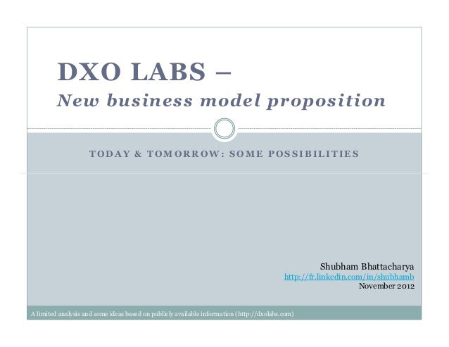 T O D A Y & T O M O R R O W : S O M E P O S S I B I L I T I E SDXO LABS –New business model propositionShubham Bhattachary...