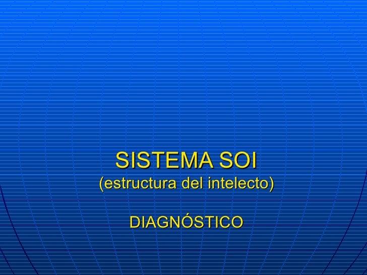 SISTEMA SOI (estructura del intelecto) DIAGNÓSTICO