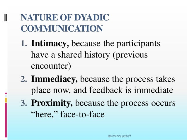 dyadic communication is also known as