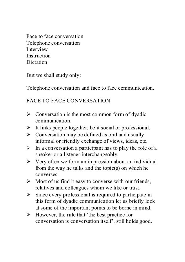 telephone conversation 4 essay So many questions here, you are sure to find something to interest your students take a look at the topics, click one, and get your conversation questions.