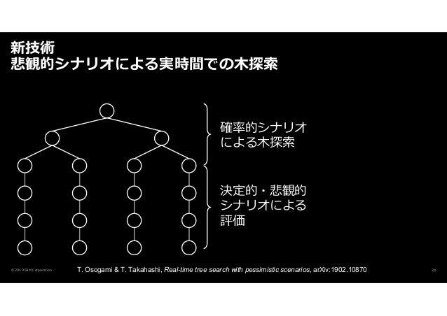 新技術 悲観的シナリオによる実時間での木探索 © 2019 IBM Corporation T. Osogami & T. Takahashi, Real-time tree search with pessimistic scenarios,...