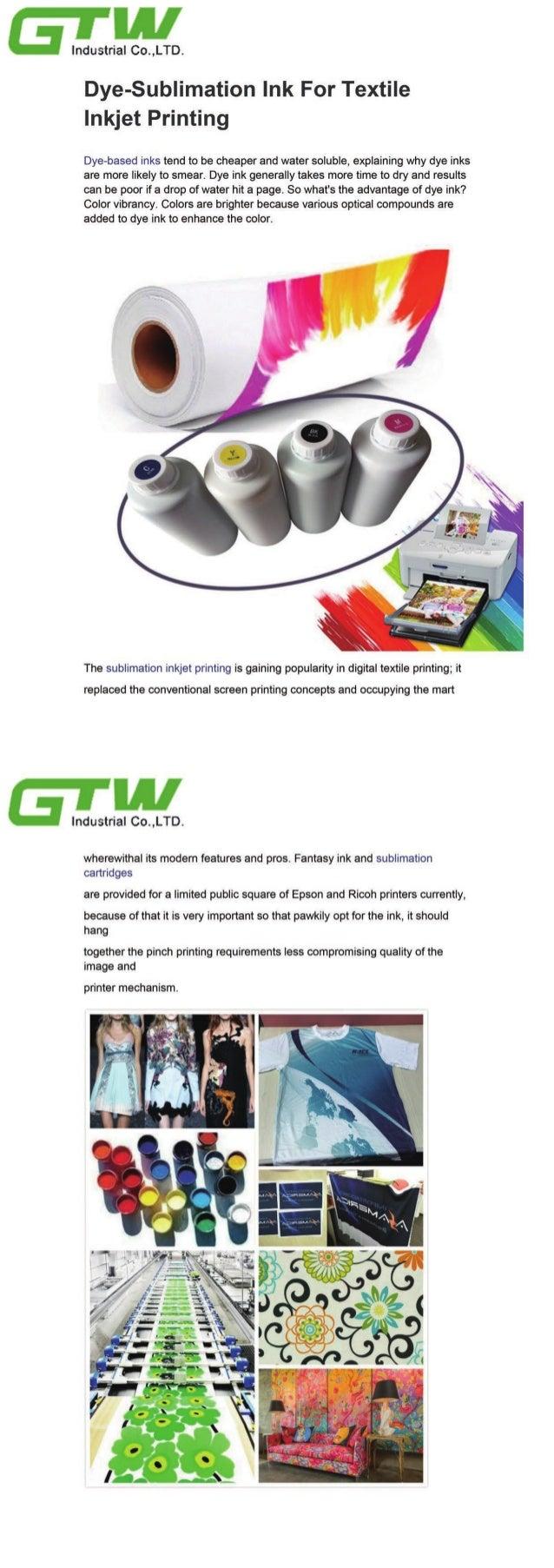 Dye sublimation ink for textile inkjet printing