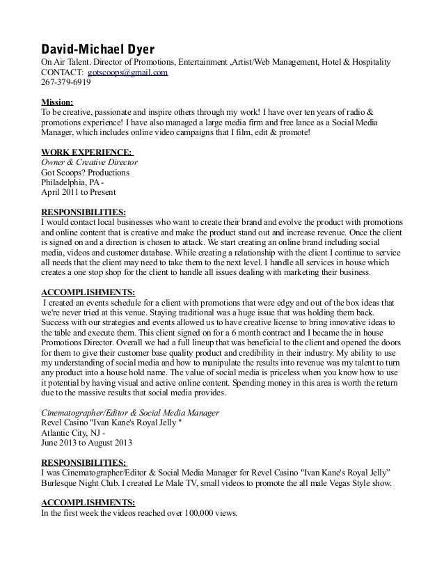 business manager cv template dayjob
