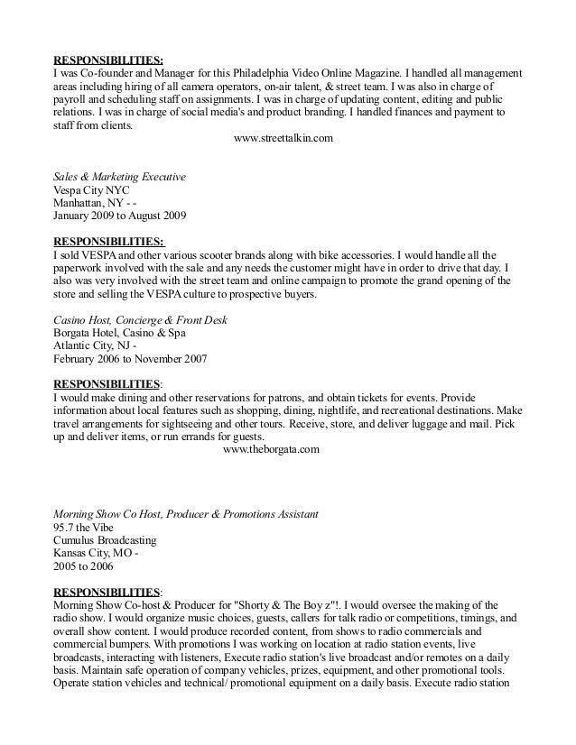 beautiful vip host resume ideas simple resume office templates