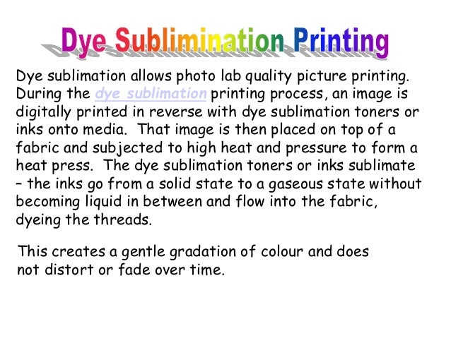 Sublimation Blanks Dye Printing Process