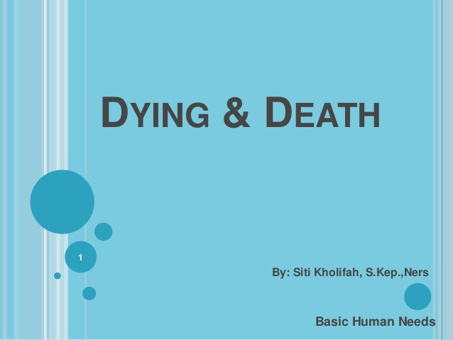 DYING & DEATH1           By: Siti Kholifah, S.Kep.,Ners                   Basic Human Needs