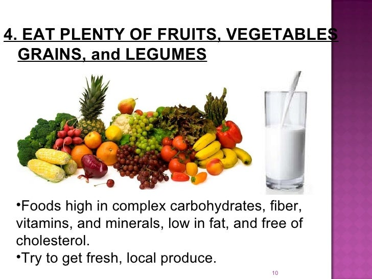 write 5 lines on healthy food