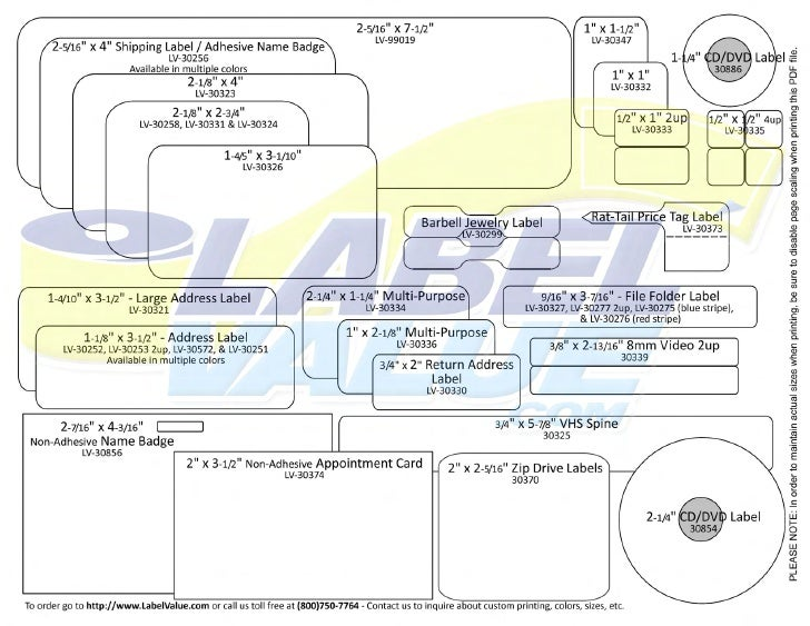 Dymo LV-30321 Compatible Large Address Labels 2