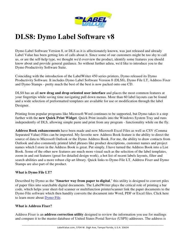 Understanding Label File Formats in DYMO Label v8 Label - oukas info