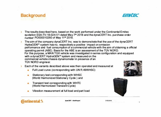 > The results described here, based on the work performed under the Continental Emitec quotation ESA-TV-18-024-V1 dated Ma...