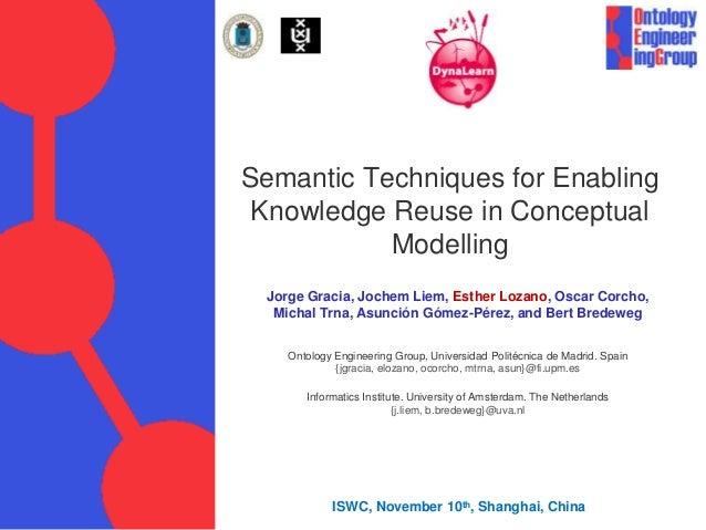 Semantic Techniques for Enabling Knowledge Reuse in Conceptual Modelling Jorge Gracia, Jochem Liem, Esther Lozano, Oscar C...