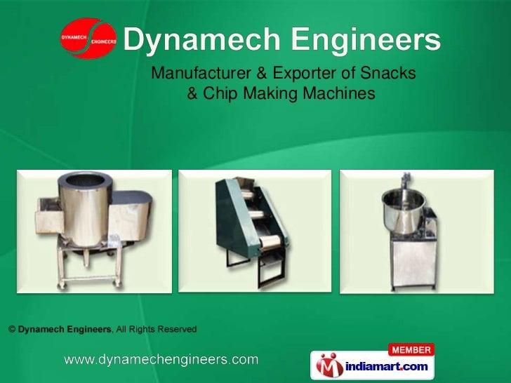 Manufacturer & Exporter of Snacks & Chip Making Machines<br />