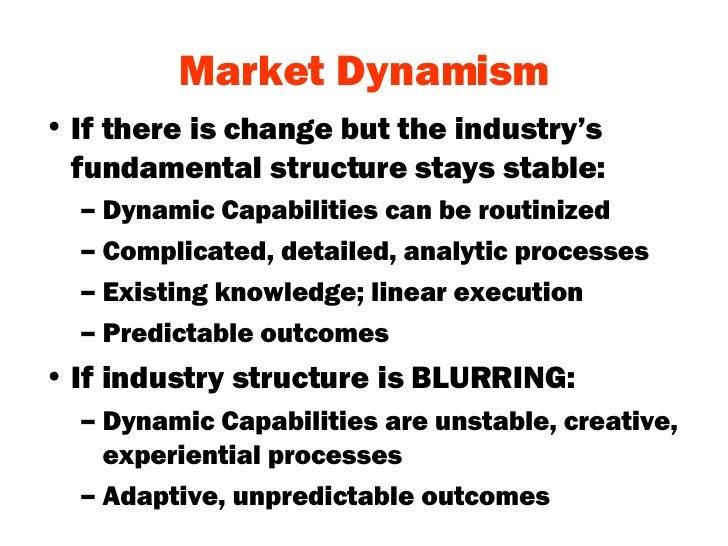Market Dynamism <ul><li>If there is change but the industry's fundamental structure stays stable: </li></ul><ul><ul><li>Dy...