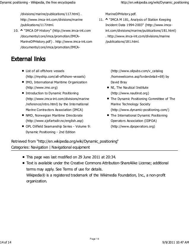15 - Dynamic Positioning Operator Sample Resume