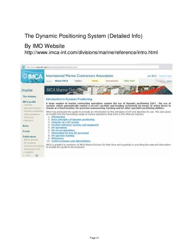 Dynamic positioning