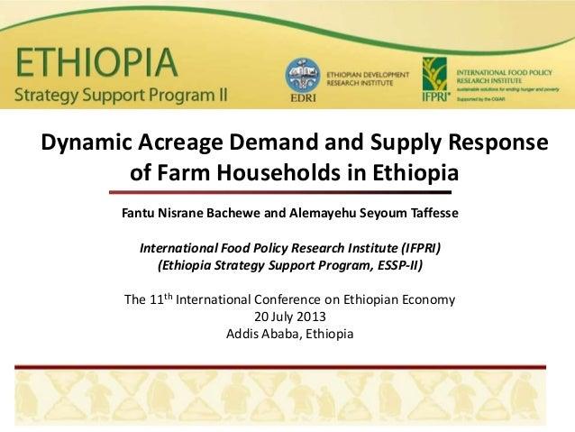 Fantu Nisrane Bachewe and Alemayehu Seyoum Taffesse International Food Policy Research Institute (IFPRI) (Ethiopia Strateg...