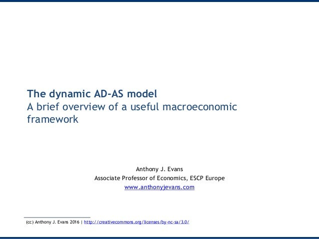 The dynamic AD-AS model A brief overview of a useful macroeconomic framework Anthony J. Evans Associate Professor of Econo...