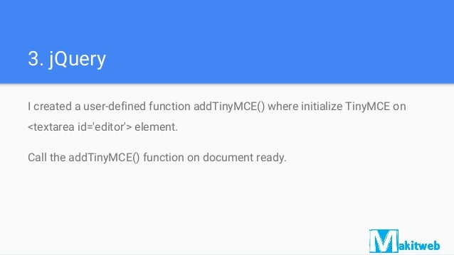 Dynamically add and remove TinyMCE editor with jQuery