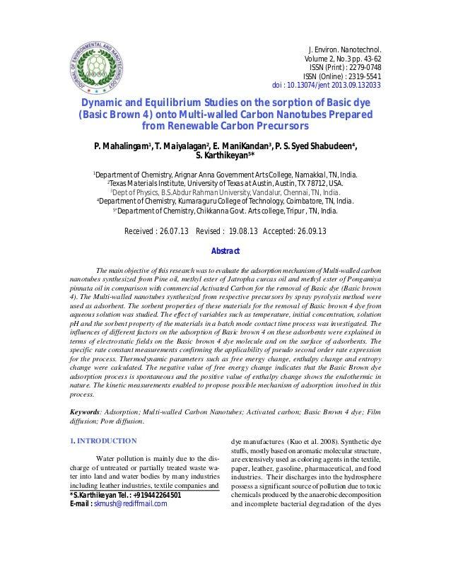 J. Environ. Nanotechnol. Volume 2, No.3 pp. 43-62 ISSN (Print) : 2279-0748 ISSN (Online) : 2319-5541 doi : 10.13074/jent 2...