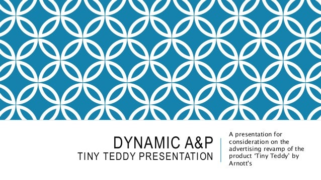 DYNAMIC A&P TINY TEDDY PRESENTATION A presentation for consideration on the advertising revamp of the product 'Tiny Teddy'...