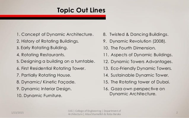 Dynamic architecture + Gaza Own Perspective on Dynamic Architecture Slide 2