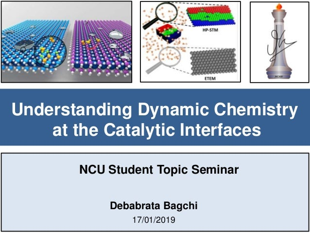 Understanding Dynamic Chemistry at the Catalytic Interfaces Debabrata Bagchi 17/01/2019 NCU Student Topic Seminar