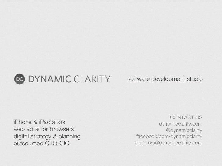 software development studio                                              CONTACT USiPhone & iPad apps                     ...