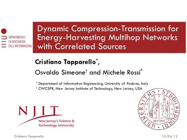 Dynamic Compression-Transmission for                  Energy-Harvesting Multihop Networks                  with Correlated...