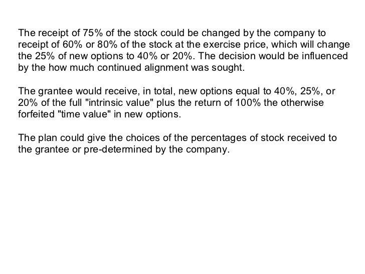 Stock options sars