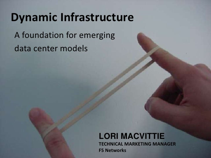 Dynamic Infrastructure A foundation for emerging data center models                         LORI MACVITTIE                ...