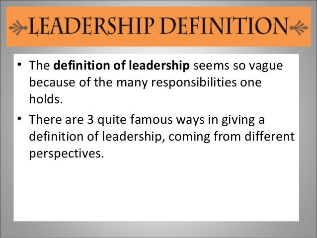 leadership means to me st Leadership means different things to different people around the world, and different things in different situations for example, it could relate to community leadership, religious leadership, political leadership, and leadership of campaigning groups.