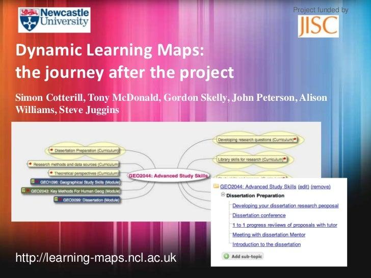 Dynamic Learning Maps - Presentation: ALT-C 2012 on